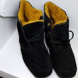 New Hush puppies 55866 black suede lace booties 9M